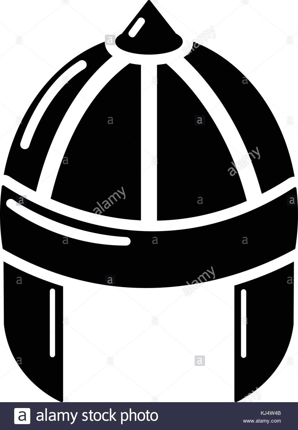 965x1390 Knight Helmet Guard Icon, Simple Black Style Stock Vector Art