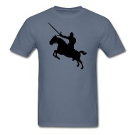 190x190 Knight On Horse Silhouette By Azza1070 Spreadshirt