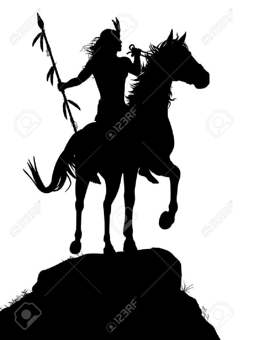 1010x1300 Native American Clipart Riding Horse