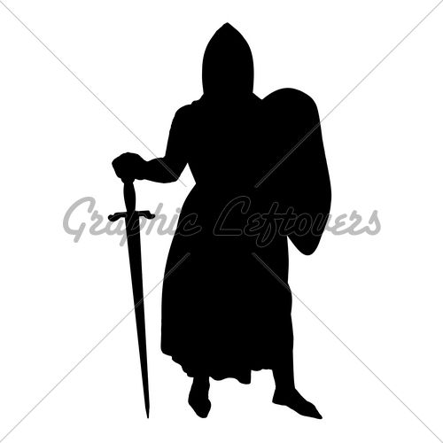 500x500 Medieval Knight Silhouette. Diy Home Decor Silhouettes