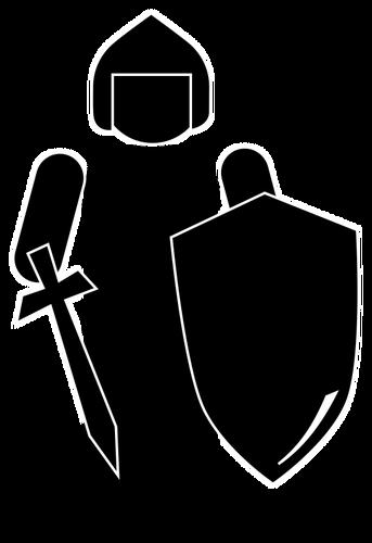 343x500 Silhouette Of A Knight Public Domain Vectors