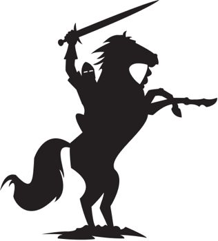 316x350 Free Knight Silhouette Clipart