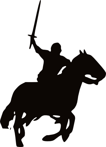 356x494 Knight On Horse Knight On Horse Silhouette.png Art