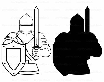 340x270 Knight Silhouette Etsy