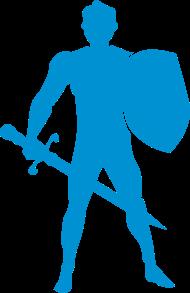 190x293 Warrior Knight Man Silhouette By Azza1070 Spreadshirt