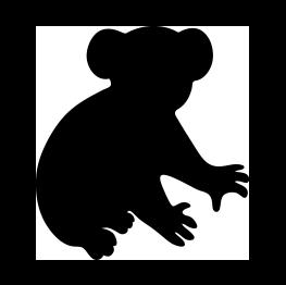263x262 Koala Bear Silhouette Scanncut Designs Bear