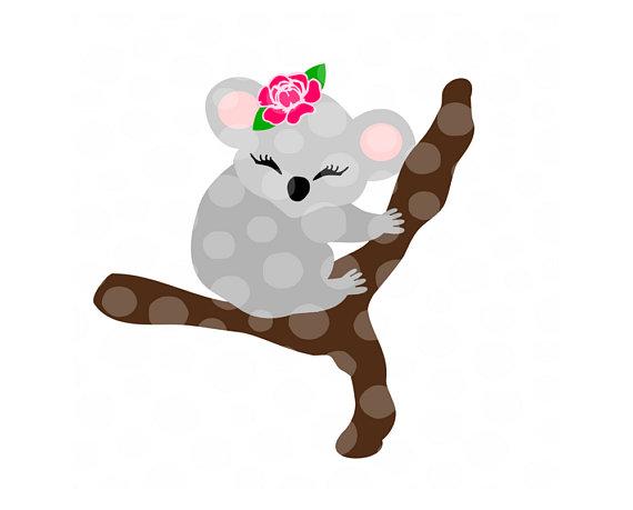 570x459 Koala Svg, Png, Dxf, Koala Bear, Svg Cut Files For Cricut, Girls