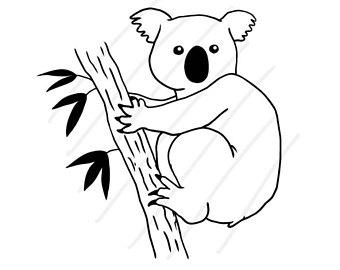 340x270 Koala Vector Etsy