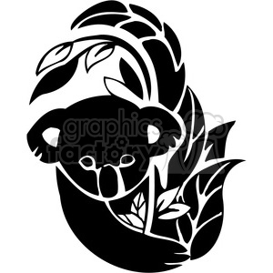 300x300 Royalty Free Koala 084 386162 Vector Clip Art Image
