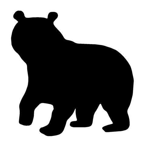 481x480 Black Bear Cub Silhouette