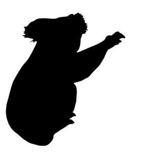 279x330 Koala Bear Silhouette Decal Sticker
