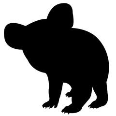 240x240 Koala Silhouette Vector Graphics