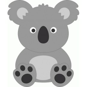 290x290 Cute Koala Silhouette Design, Silhouettes And Cricut