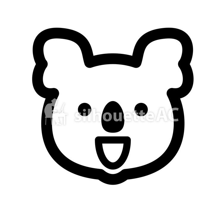 750x750 Free Silhouette Vector Animal, Face, Koala