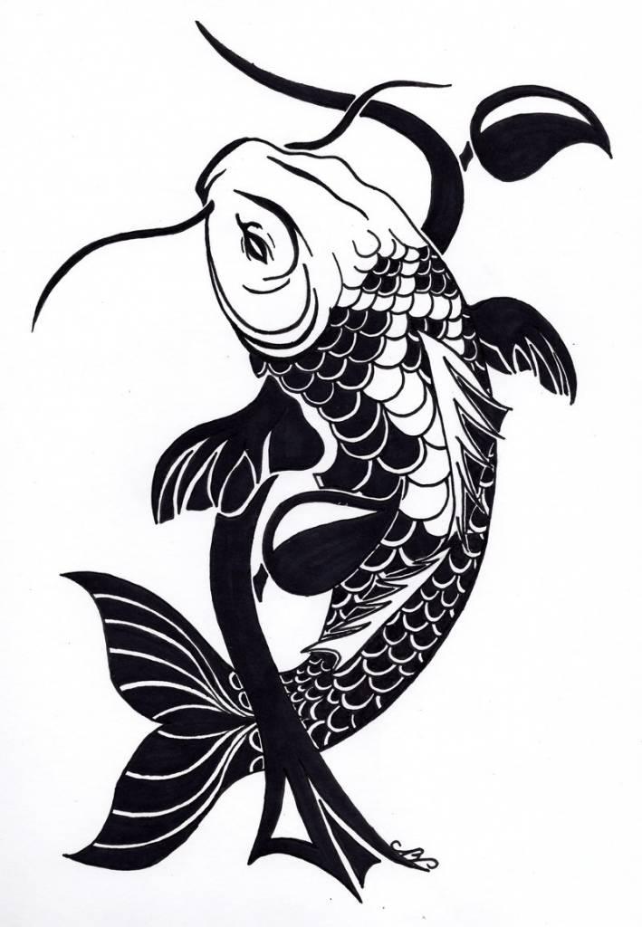 709x1024 Tribal Fish Tattoo Designs Best Tattoo Design With Tribal Koi