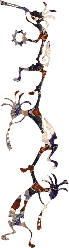 236x848 Kokopelli Decal Deities, Native Americans And Symbols