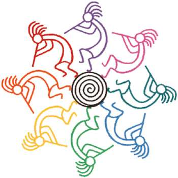 350x350 Kokopelli Outline Embroidery Design Outlines, Embroidery Designs