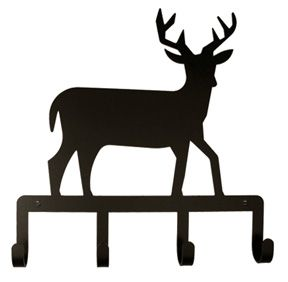 288x282 Wrought Iron Key Chain Holder With Deer Silhouette Never Lose