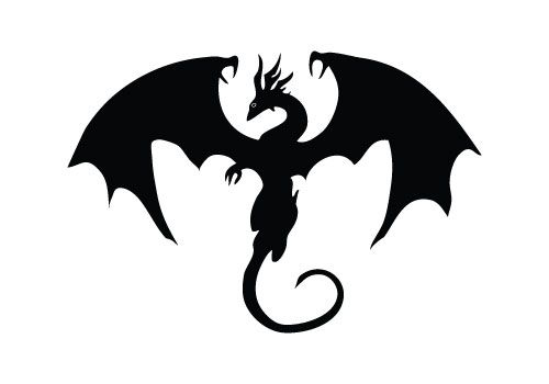 500x350 Dragon Silhouette Vector Comes With Eps Vector File And Image