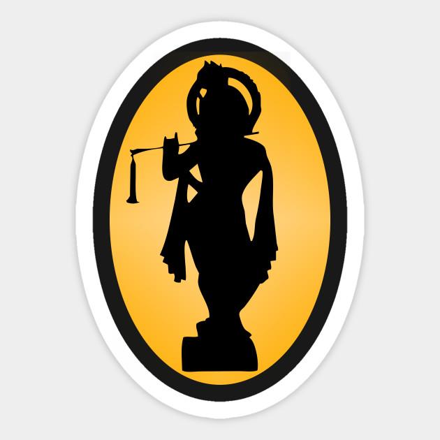 630x630 Hare Krishna Silhouette Design