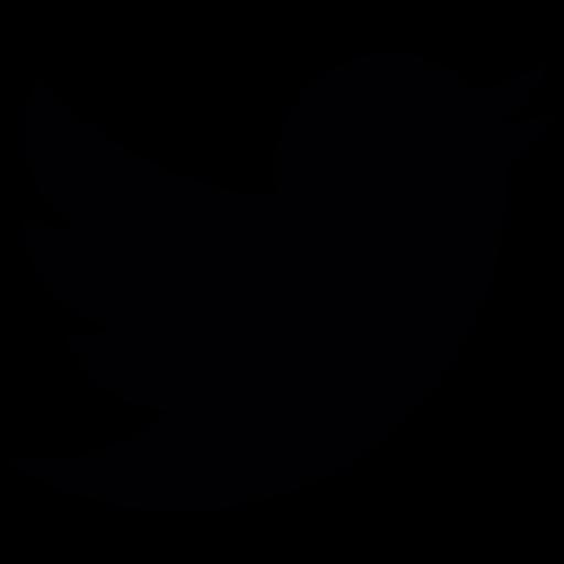 512x512 Twitter Logo Silhouette