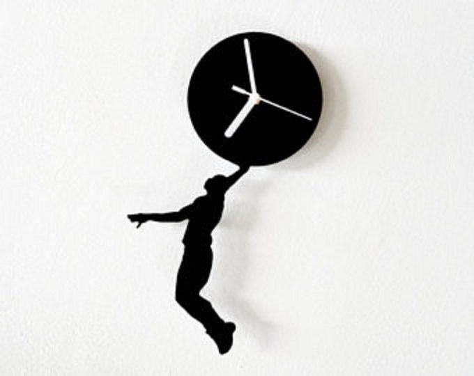 680x540 Basketball Silhouette Wall Clock SPECIFICATIONS The clock is