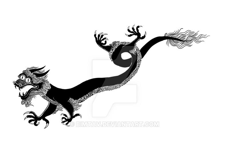 800x571 Chinese Dragon Silhouette By Bimtav