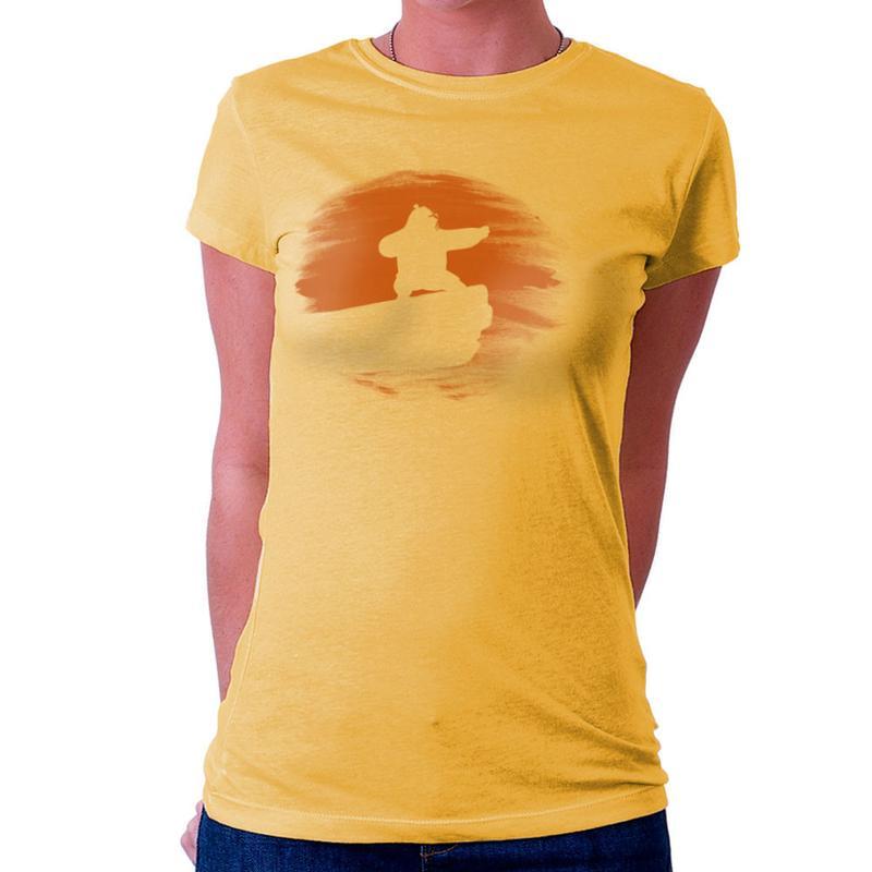 800x800 Kung Fu Panda Silhouette Sunset Women's T Shirt Cloud City 7