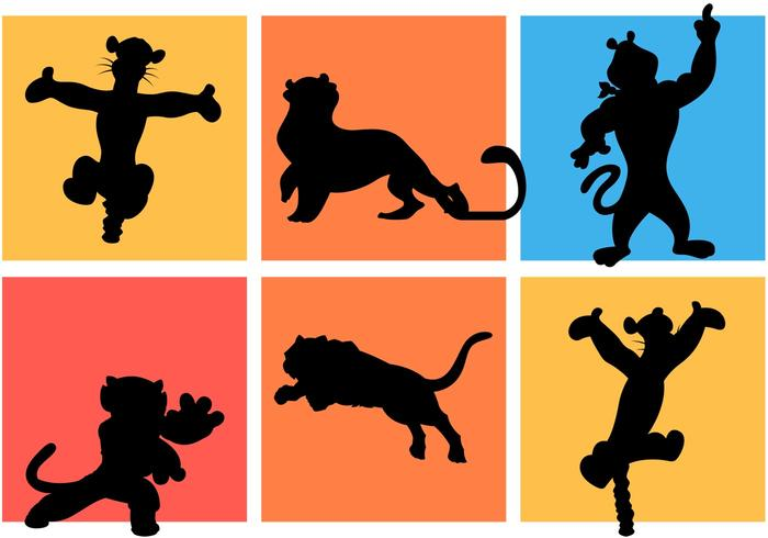 700x490 Famous Cartoon Tigers Silhouettes