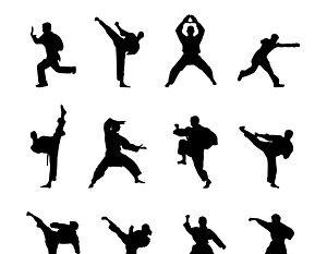 300x233 Martial Art Silhouette Vectors Free Vectors Ui Download