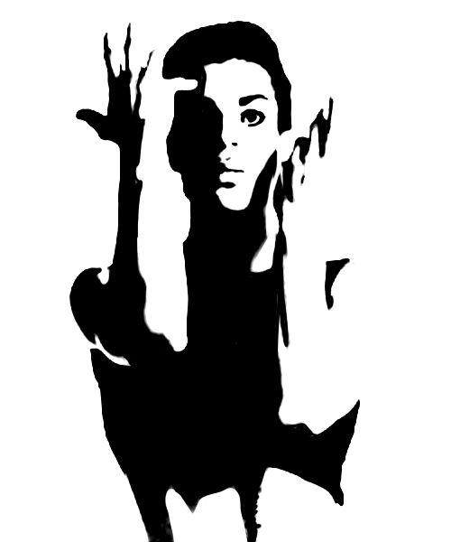Kurt Cobain Silhouette