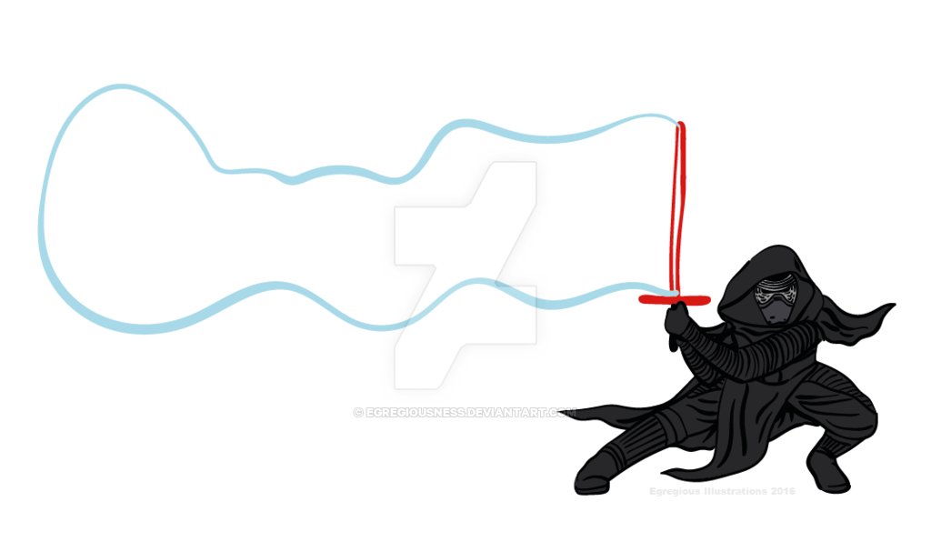 1024x607 Kylo Ren Picks Up His Bubble Sword By Mistake By Egregiousness