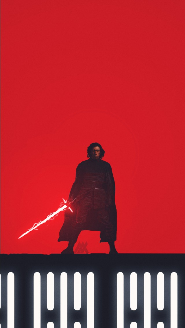 640x1136 Kylo Ren Star Wars The Last Jedi Artwork 4k Wallpapers Hd