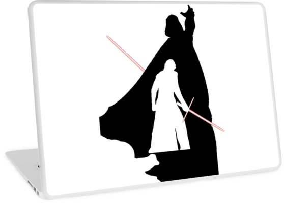558x400 Darth Vader Kylo Ren Laptop Skins By Sassanhaise Redbubble