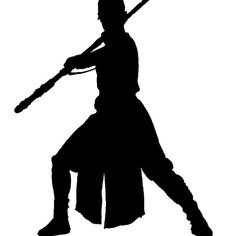 236x236 Star Wars Force Awakens Rey, Finn, Kylo Ren Silhouette Vinyl Decal