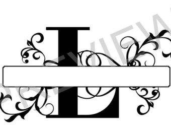 340x270 Monogram Letter P, Split Letter P, Silhouette Files, Svg Cutting
