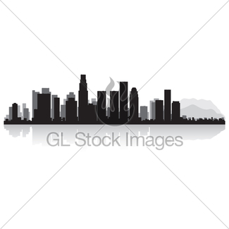325x325 Los Angeles Skyline With Reflection In Water Gl Stock Images