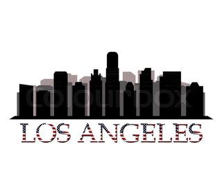 320x280 Los Angeles Skyline Stock Vector Colourbox