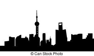 300x181 Very Big Size Toronto City Skyline Silhouette With Text Stock