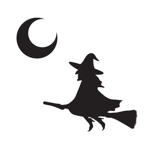 300x300 Halloween Moon Silhouette
