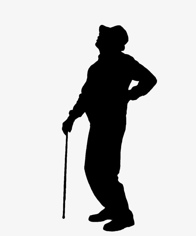 650x781 Le Vieil Homme De La Taille De La Silhouette, Le Vieil