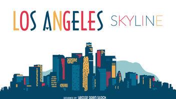 352x198 Los Angeles Night Skyline Illustration Free Vector Download 330127