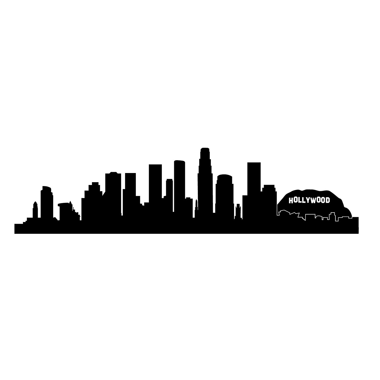 1500x1500 Los Angeles Skyline Silhouette, Small, Black
