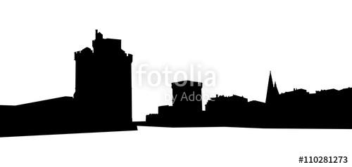 500x238 Port De La Rochelle, Silhouette Stock Image And Royalty Free