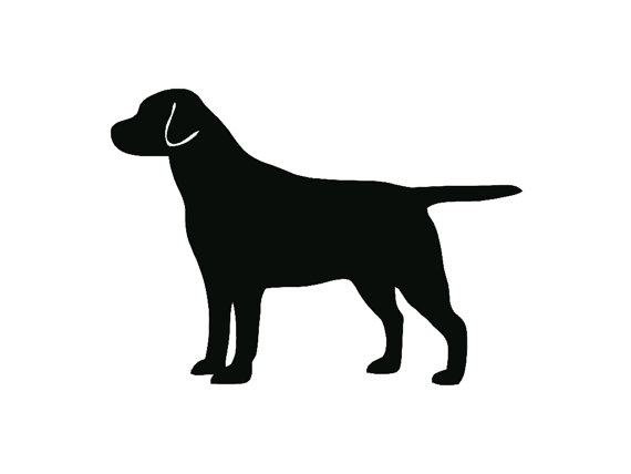 570x428 Labrador Retriever Dog Breed Silhouette Custom Die Cut Vinyl