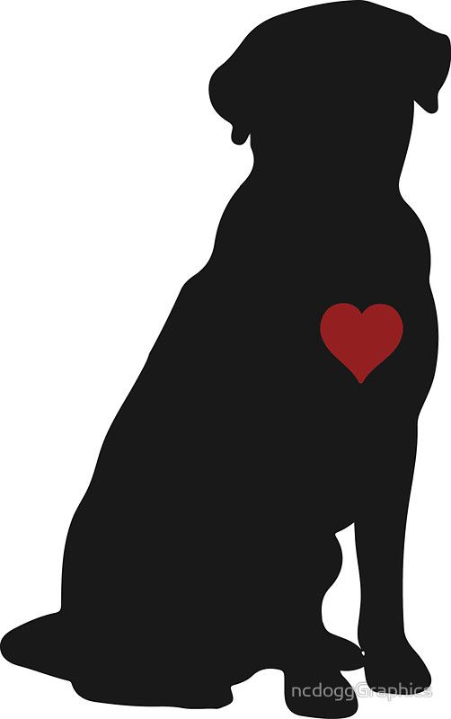 502x800 Labrador Retriever Silhouette Redbubble Stickers