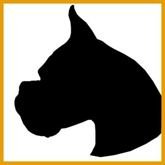 324x324 Lab Dog Head Silhouette