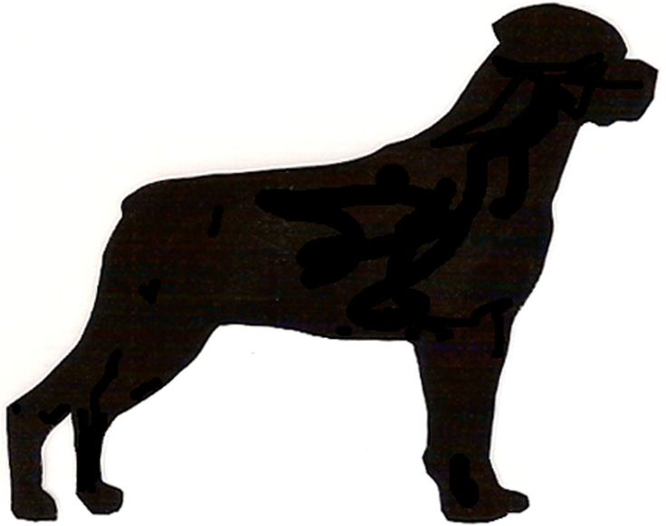 736x582 Silhouette Of Rottweiler Head Clipart