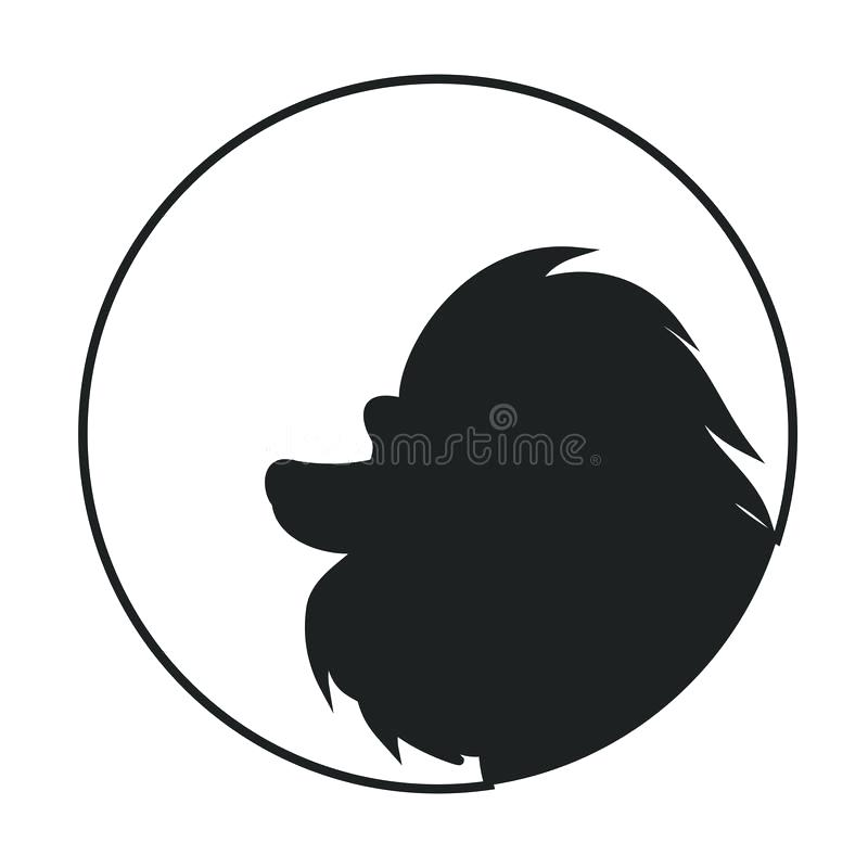 800x800 Dog Head Silhouette Hed Illustrtion Dorble Gy Dog Head Silhouette