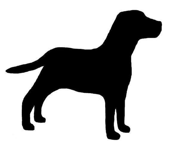 570x506 Labrador Retriever Dog Lab Profile Silhouette Window Decal